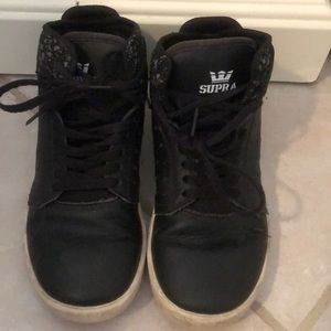 Supra black leather kids size 1